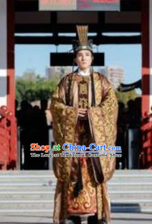 Chinese Chang An Impression Ancient Tang Dynasty Emperor Stage Performance Costume for Men