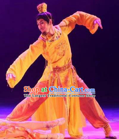 Chinese Back to Song Dynasty Emperor Imperial Robe Stage Performance Costume for Men