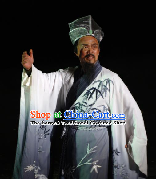 Chinese Dreaming In Hometown Wuyuan Ministry Councillor Stage Performance Dance Costume for Men