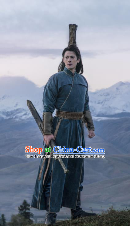 Ever Night Chinese Drama Ancient Young Knight Hanfu Clothing Traditional Tang Dynasty Swordsman Costumes for Men