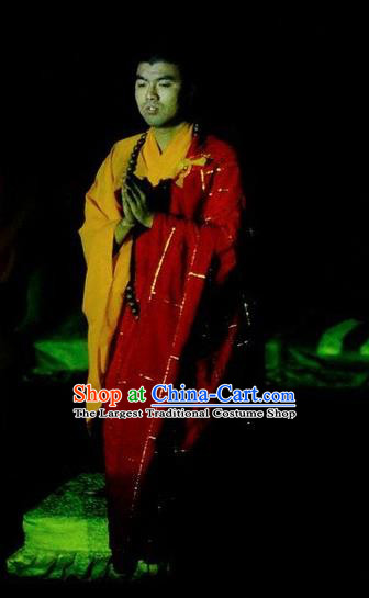 Chinese Impression Putuo Monk Abbot Cassock Stage Performance Costume for Men