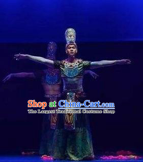 Chinese The Ancient Dunhuang Music Theatre Bodhisattva Clothing Stage Performance Dance Costume for Men