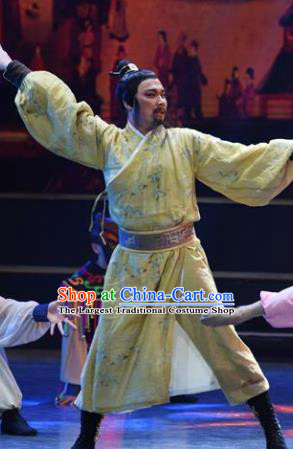 Chinese Han Wind Float In The Sky Han Dynasty Emperor Liu Bang Dance Clothing Stage Performance Costume for Men