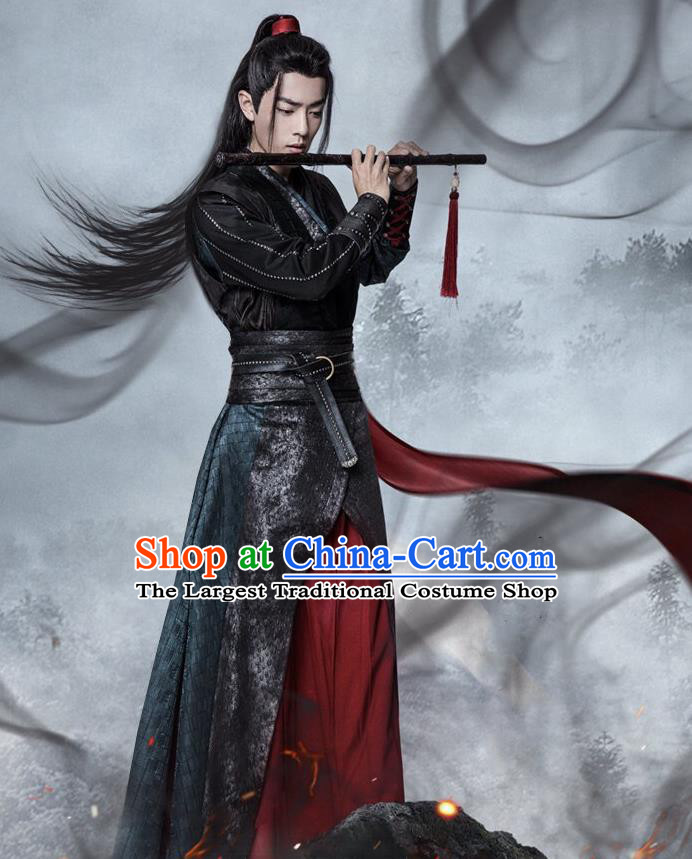 Chinese Drama The Untamed Ancient Swordsman Wei Wuxian Xiao Zhan Black Costumes for Men