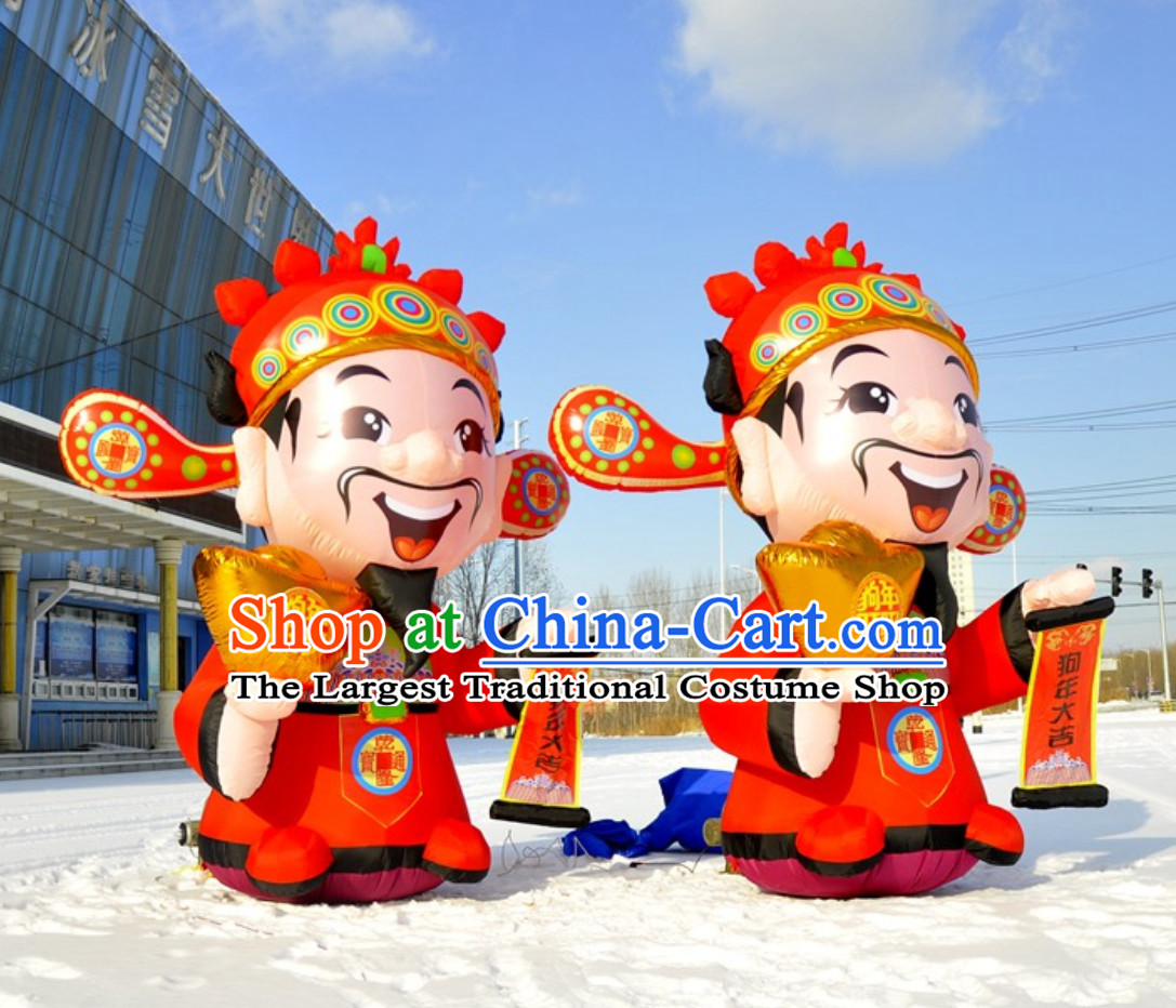 Chinese New Year Cai Shen Inflatable China Spring Festival God of Wealth Inflatables