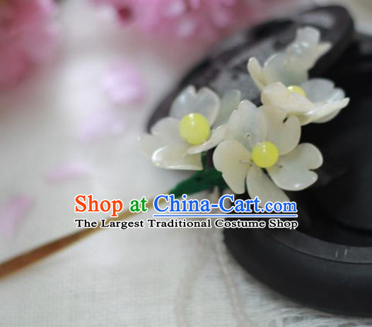 Chinese Ancient Court Queen Peach Blossom Tassel Hairpins Traditional Classical Hanfu Hair Accessories for Women