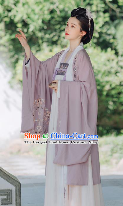 Traditional Chinese Tang Dynasty Imperial Concubine Replica Costumes Ancient Palace Lady Embroidered Hanfu Dress for Women