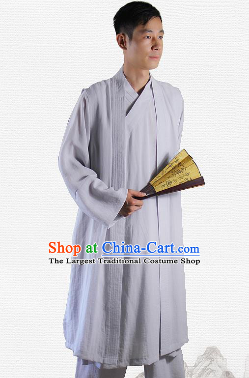 Traditional Chinese Martial Arts Grey Outfits Kung Fu Wudang Taoist Priest Tai Chi Costume for Men