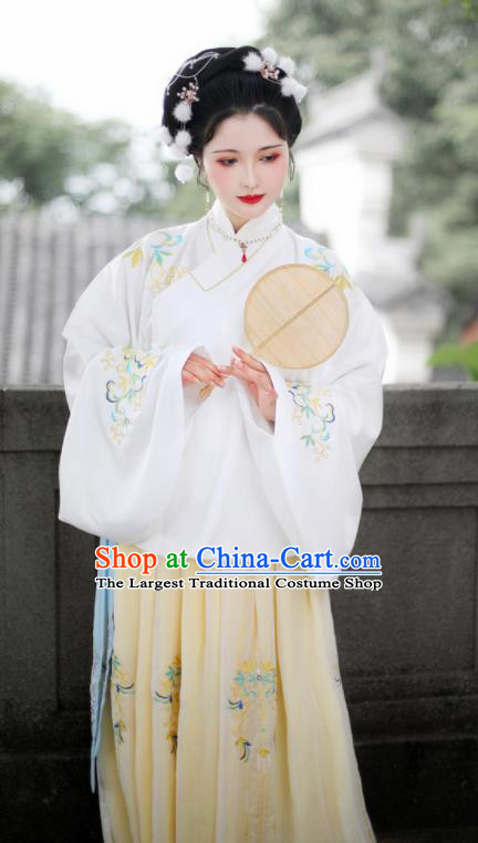 Traditional Chinese Ming Dynasty Court Princess Embroidered Hanfu Dress Ancient Nobility Lady Replica Costume for Women