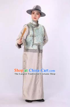Traditional Chinese Drama Tian Ming Qing Dynasty Civilian Costumes and Headwear for Men