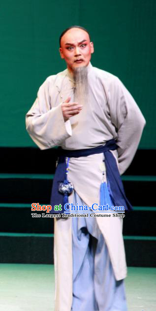 Xu Tietang Traditional Chinese Qin Opera Qing Dynasty Civilian Stage Performance Costumes and Headwear for Men