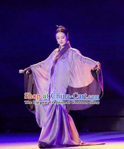 The Book of Songs Mu Gua Traditional Chinese Classical Dance Dress Stage Show Costume for Women