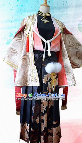 Traditional Japanese Cosplay Samurai Clothing Ancient Swordsman Costume for Men