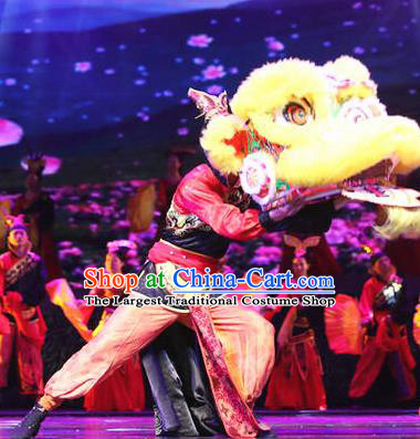 Chinese Drama Dragon Boat Festival Lion Dance Clothing Stage Performance Dance Costume for Men