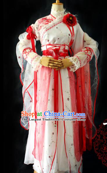 Chinese Cosplay Imperial Consort Dress Ancient Female Swordsman Knight Costume for Women