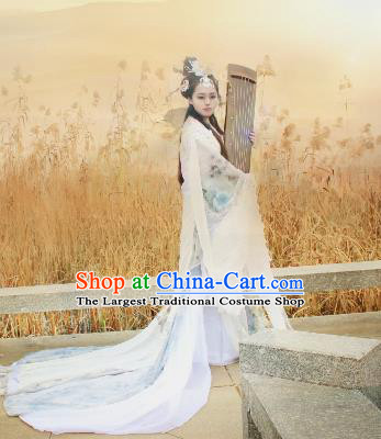 Chinese Cosplay Imperial Consort White Dress Ancient Female Swordsman Knight Costume for Women