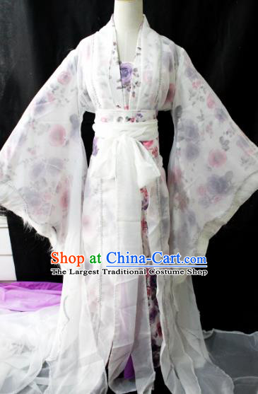 Chinese Cosplay Goddess Fairy Dress Ancient Female Swordsman Knight Costume for Women