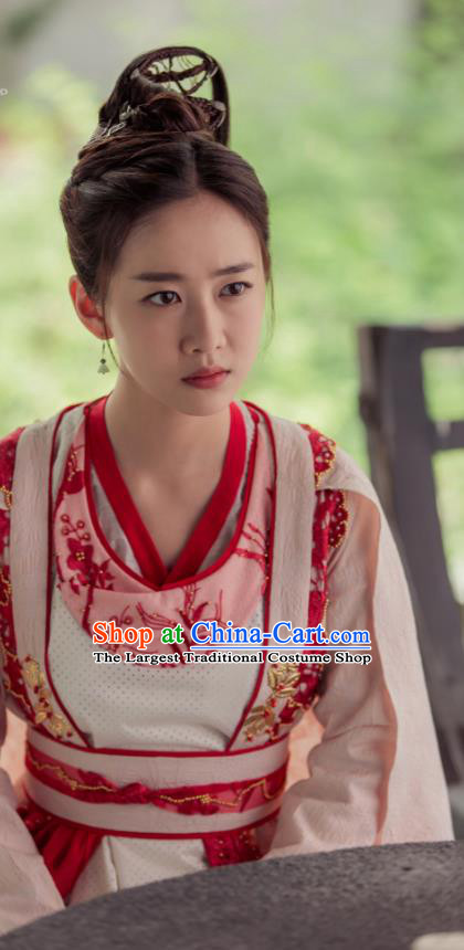Ancient Chinese Song Dynasty Nobility Lady Hanfu Dress Drama Young Blood Female Swordsman Costumes for Women