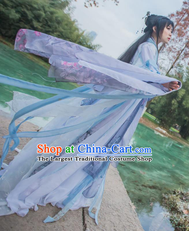 Chinese Cosplay Tang Dynasty Princess Dress Ancient Female Swordsman Knight Costume for Women