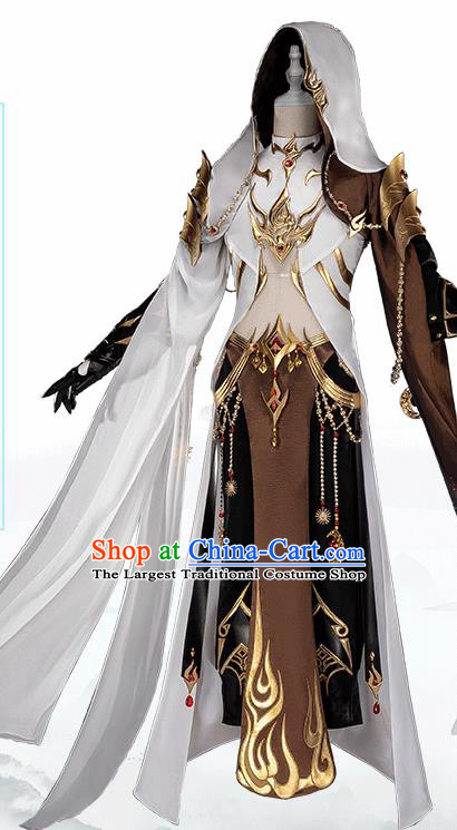 Traditional Chinese Cosplay Nobility Childe Clothing Ancient Swordsman Costume for Men