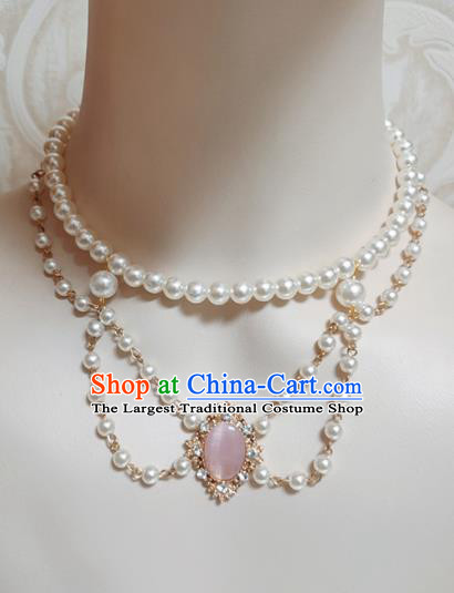 Top Grade Gothic Rose Chalcedony Necklace Handmade Necklet Accessories for Women