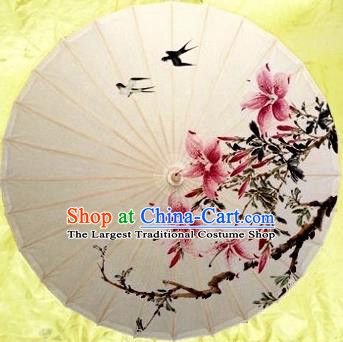 Chinese Handmade Ink Painting Swallow Oil Paper Umbrella Traditional Decoration Umbrellas