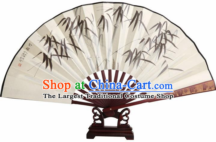 Chinese Handmade Painting Bamboo White Fans Accordion Fan Traditional Decoration Folding Fan
