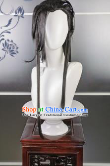 Traditional Chinese Cosplay Female Swordsman Wigs Sheath Ancient Goddess Chignon for Women