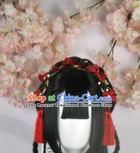 Traditional Chinese Cosplay Swordsman Princess Wigs Sheath Ancient Goddess Chignon for Women