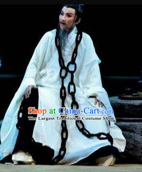 Chinese Drama Yuan Qu Ancient Litterateur Clothing Stage Performance Dance Costume for Men