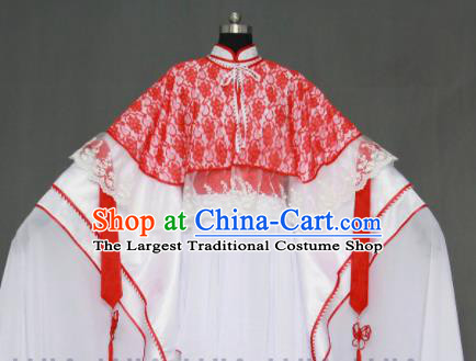 Traditional Chinese Cosplay Court Princess Red Collar Dress Ancient Drama Female Swordsman Costumes for Women