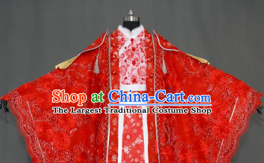 Traditional Chinese Cosplay Fairy Queen Wedding Red Dress Ancient Drama Female Swordsman Costumes for Women