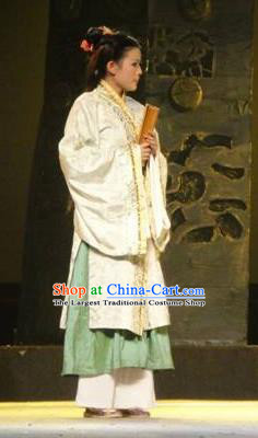 Chinese Drama Yuan Qu Ancient Court Lady Dance Dress Stage Performance Costume and Headpiece for Women