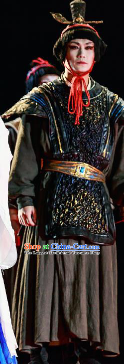 Chinese Drama Prince of Lanling Ancient Northern Dynasties Soldier Clothing Stage Performance Dance Costume for Men