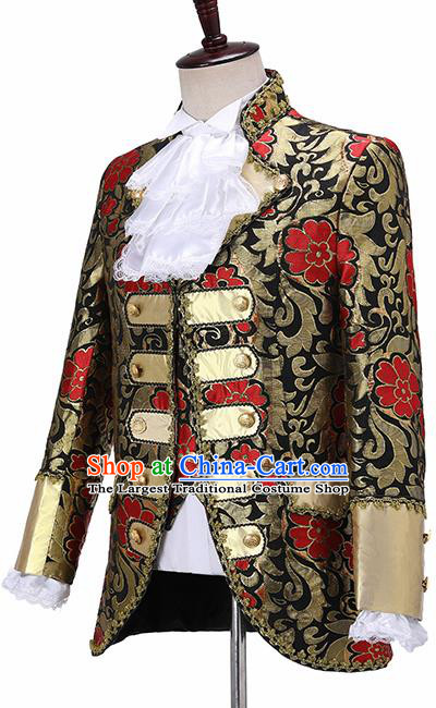 Traditional England Prince Costumes European Court Vest Coat Clothing for Men