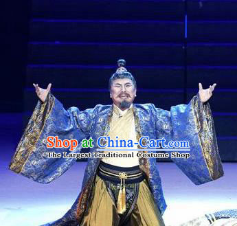 Chinese Drama Guangling Verse Ancient Jin Dynasty Official Clothing Stage Performance Dance Costume for Men