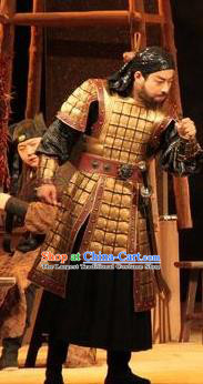 Chinese Drama New Dragon Inn Ancient General Body Armor Clothing Stage Performance Dance Costume for Men