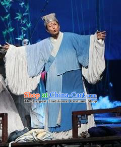 Chinese The Legend of Wang Yangming Ancient Taoist Blue Clothing Stage Performance Dance Costume for Men