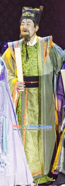 The Empress of China Ancient Tang Dynasty Minister Green Clothing Stage Performance Dance Costume for Men