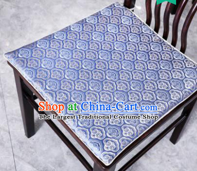 Traditional Chinese Cushion Classical Clouds Pattern Blue Brocade Cover Home Decoration Accessories