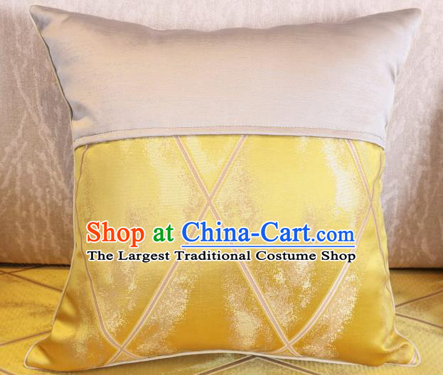 Traditional Chinese Home Decoration Accessories Golden Brocade Pillow Cover