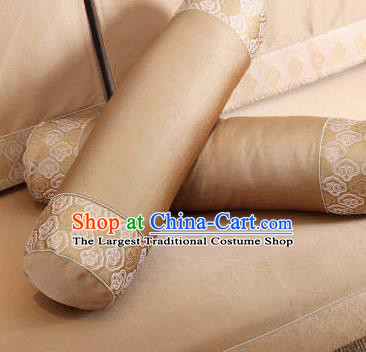 Traditional Chinese Home Decoration Accessories Pillowslip Cloud Pattern Golden Brocade Cover