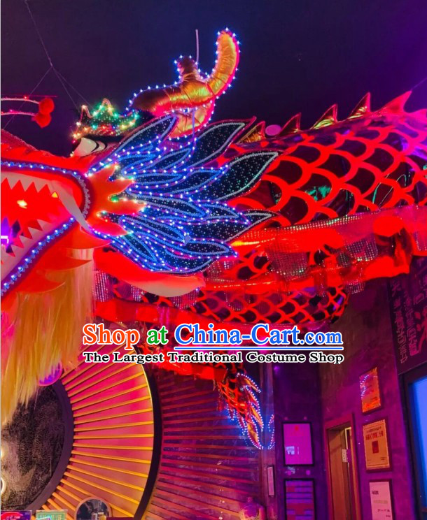 LED Super Large Dragon Head Dragon Dance Costume Complete Set