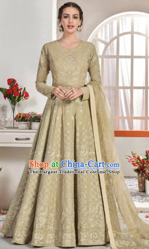 Asian Indian National Lehenga Bollywood Kelly Georgette Embroidered Dress India Traditional Costumes for Women