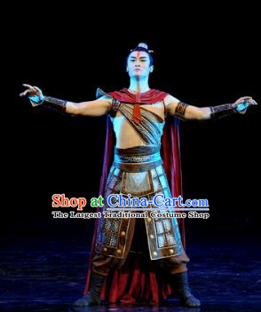 Chinese Chuansi Gongzhu Silk Princess Ancient General Dance Stage Performance Costume for Men