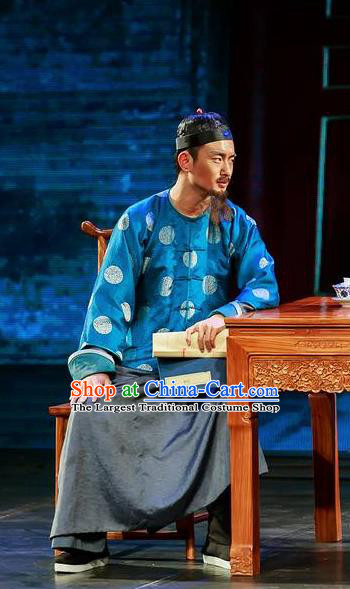 Deling and Cixi Chinese Qing Dynasty Landlord Dance Stage Performance Costume for Men