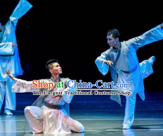 Dance Between Heaven and Earth Chinese Classical Dance White Clothing Stage Performance Dance Costume for Men
