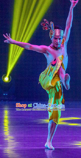 Dance Between Heaven and Earth Chinese Dai Nationality Dance Clothing Stage Performance Dance Costume for Men