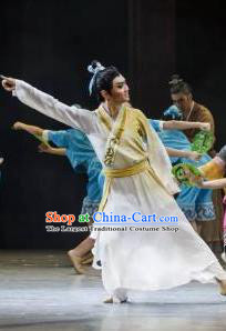 Su Dongpo in Hainan Chinese Ancient Scholar Classical Dance Clothing Stage Performance Dance Costume for Men