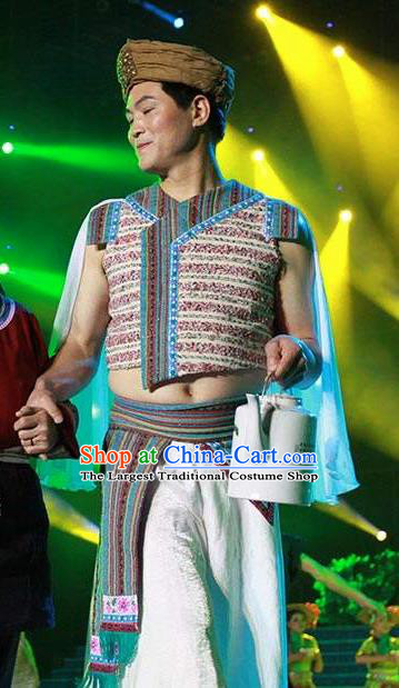 Impression Shanha Chinese She Nationality Clothing Stage Performance Dance Costume for Men